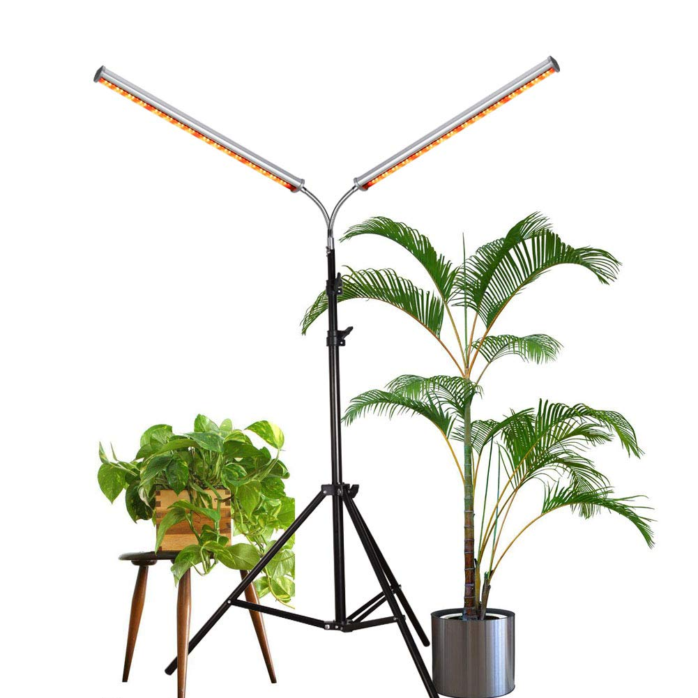 LED Grow Light, Aceple Two Heads Gooseneck 60W Floor Lamp Easy to Use for Growing Indoor, Hydroponic, Houseplants (60W Dual-Head)