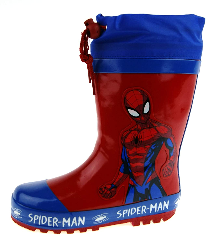 Marvel Spiderman Botas Wellington con Corbata, Color Rojo, Talla ...