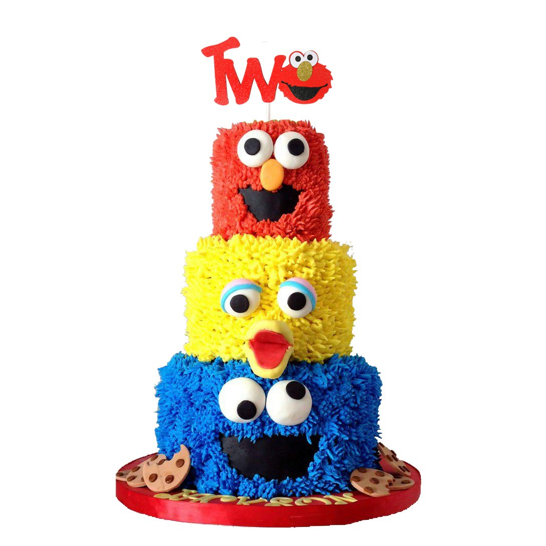 Super Coroder Glitter Two Year Birthday Cake Topper Decoration Sesame Personalised Birthday Cards Paralily Jamesorg