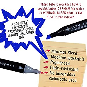 crafts 4 all fabric markers 12 pack dual tip minimal bleed rich