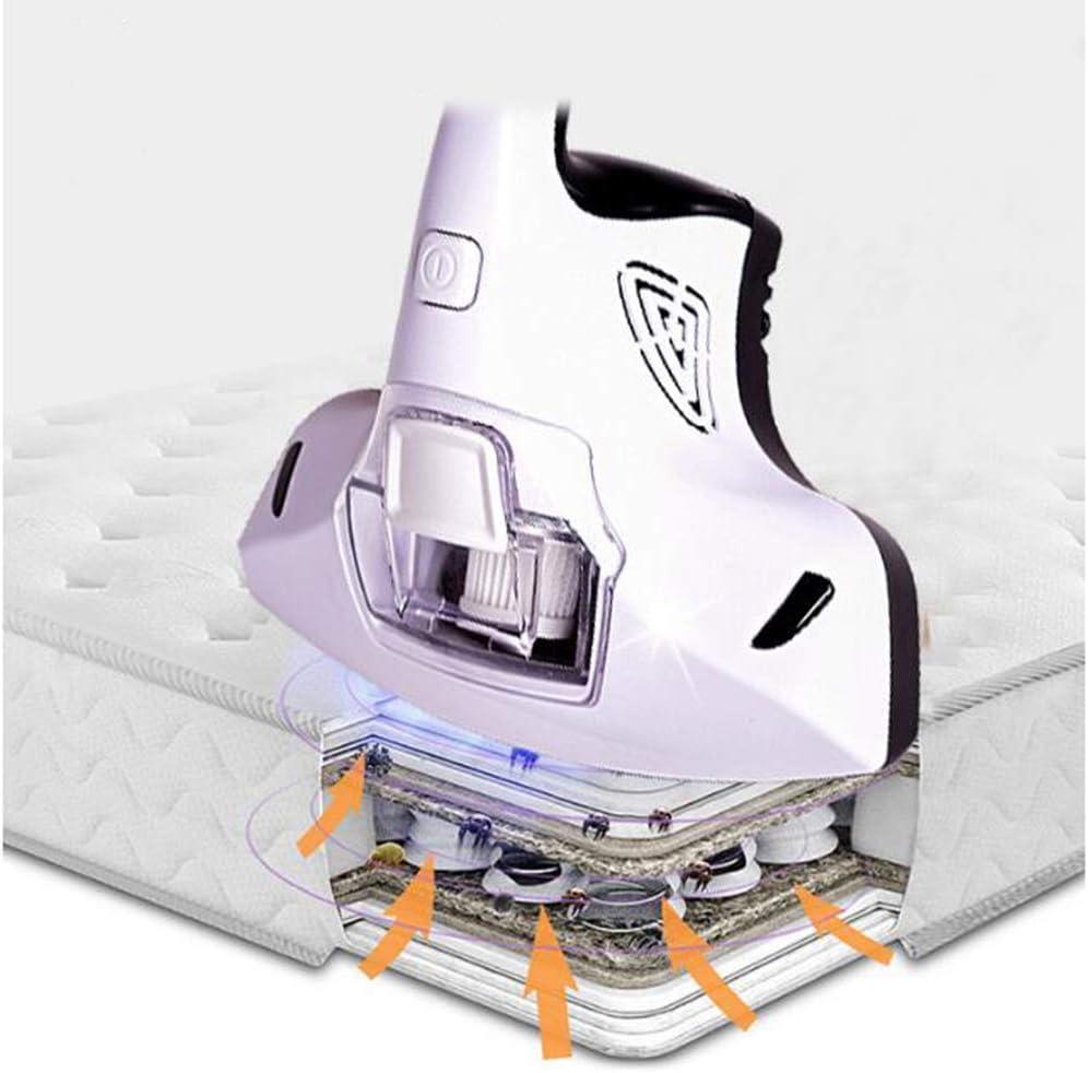 XALO Aspirateur, Instrument Élimination des Acariens De Poche Propre Aux Acariens De La Maison avec Une Lampe UV, Matelas/Oreiller/Canapé Tissu/Poupée/Tapis,Blanc White