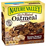 light oatmeal bread - Nature Valley Soft-Baked Oatmeal Squares, Banana Bread and Dark Chocolate, 6 Bars, 1.24 oz (Pack of 8)