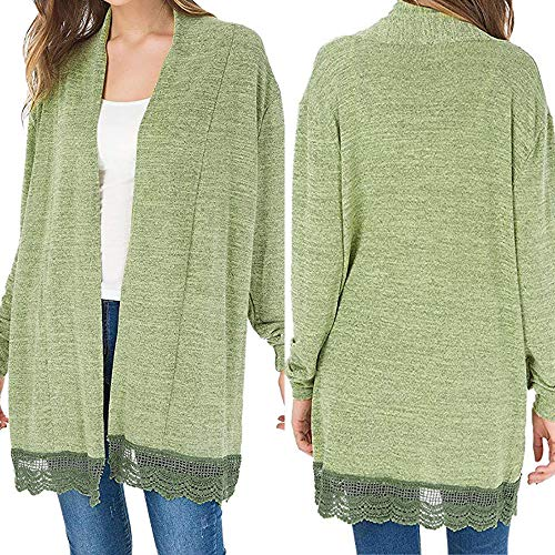 G-real Fall Winter Bouse for Women, Long Sleeve Kimono Cardigans Lace Cover up Loose Blouse Tops by G-real (Image #2)