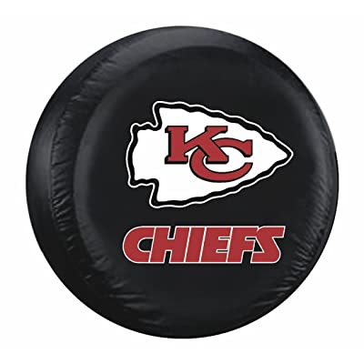 Fremont Die Kansas City Chiefs Black Spare Tire Cover : Automotive Tire And Wheel Covers : Sports & Outdoors