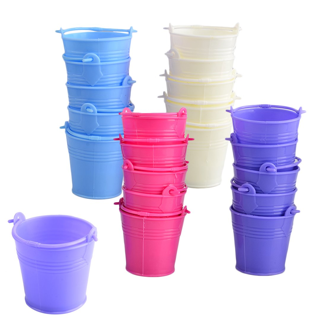Candy Buckets,Hmane 20Pcs Mini Cute Colorful Candy Buckets Pails - Multicolored(shipped random)