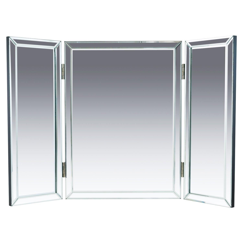 Amazoncom Houseables Trifold Vanity Mirror 3 Way 31 X 1 X 21