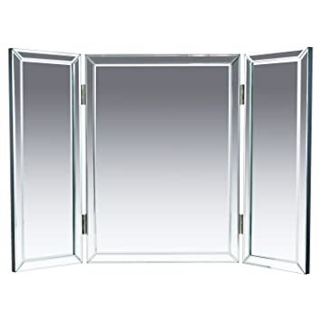Exceptional Houseables Trifold Vanity Mirror, 3 Way, 31u201d X 1u201d X 21u201d