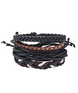 Everpert da uomo Mixed vintage Handmade treccia multistrato Wrap bracciali, colore: Style No.# 8, cod