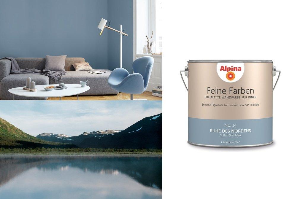Alpina Feine Farben No. 14 Ruhe des Nordens 2, 5 L Wand- Deckenfarbe DAW SE - Geschäftsbereich Alpina