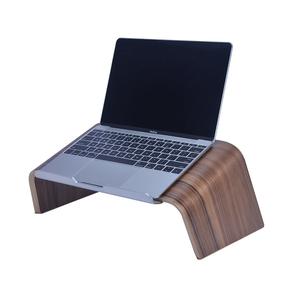 SAMDI Wood Laptop Stand, Gradient Oblique Holder Desktop Bracket Dock for Apple Air Pro, Notebook, Retina 11 12 13 15 and Other PC Notebook (Walnut) by SAMDI (Image #7)