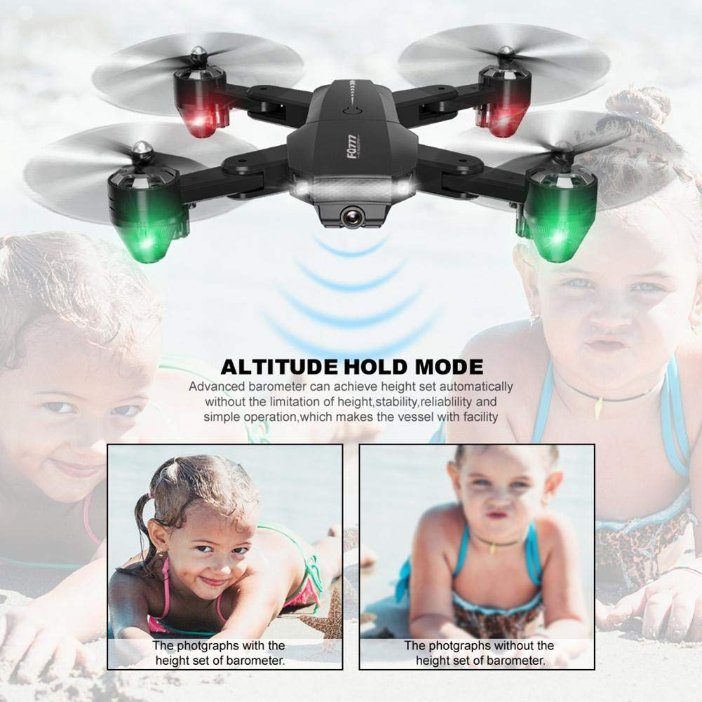 chinatera Foldable Mini Drone, RC Quadcopter with 2 Batteries, Easy to Operate for Beginners, Foldable Arms, 2.4G 6-Axis, Headless Mode, Altitude Hold, One Key Take Off and Landing by chinatera (Image #4)