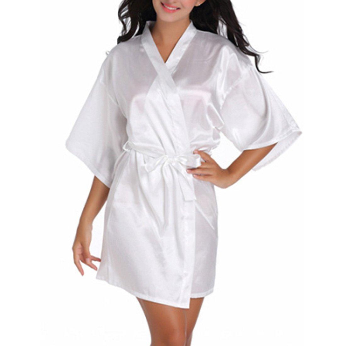 Inlefen Traje de baño de Dama de Honor de la Boda Kimono Robe Night Robe Bath Robe Vestido de Moda para Las Mujeres: Amazon.es: Ropa y accesorios