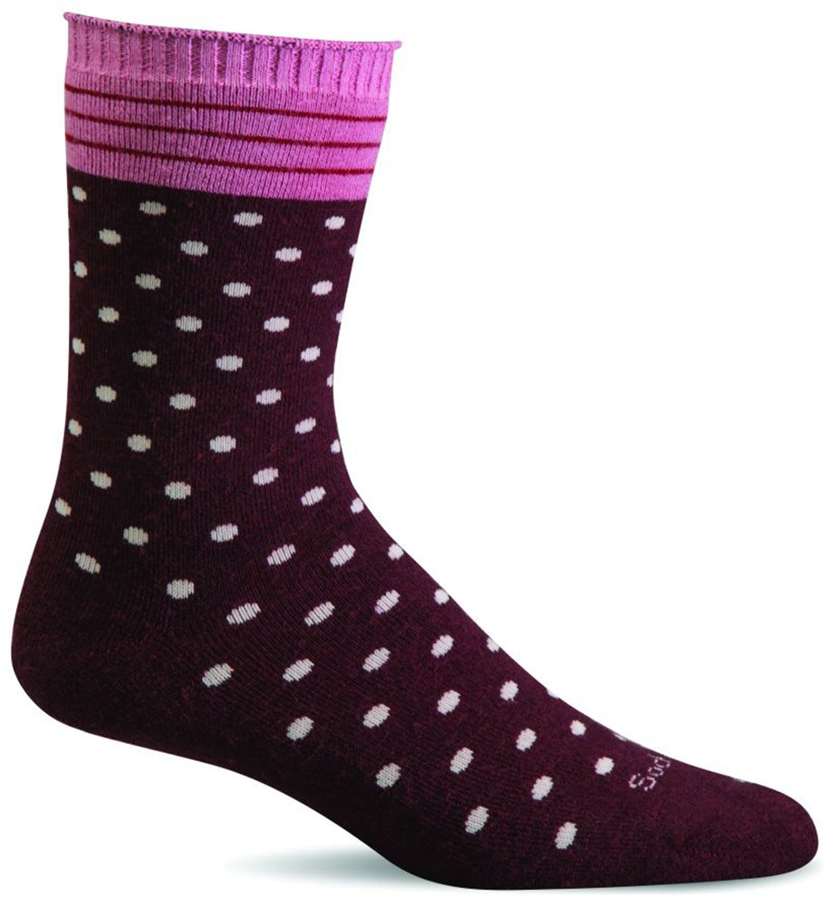Sockwell Womens Wool Plush Relaxed Fit Crew Socks (Port, M/L)
