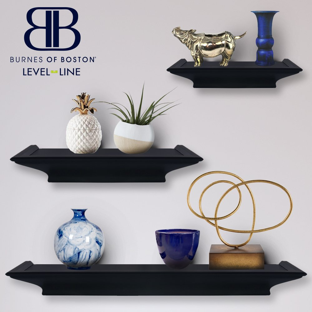 amazon com burnes of boston traditional black 3 piece floating rh amazon com Water Level Values of Antique Stanley Levels