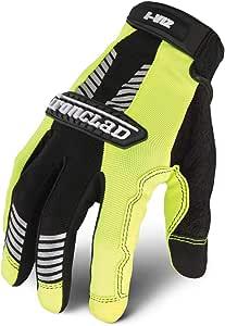 High-Vis Green Mechanics Gloves XL PR Ironclad IVG2-05-XL