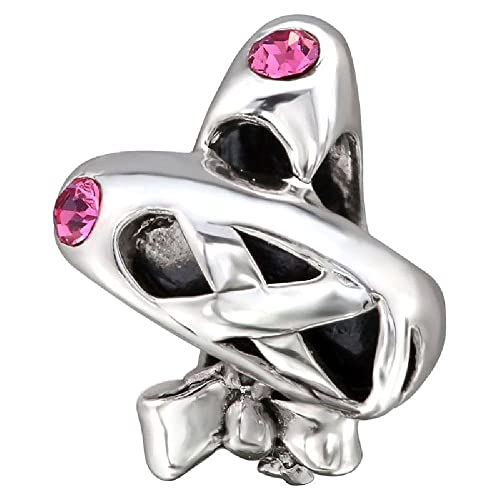00cfb5722ebf7 So Chic Jewels - Sterling Silver Charm Bead - Ballet Dance Slippers ...