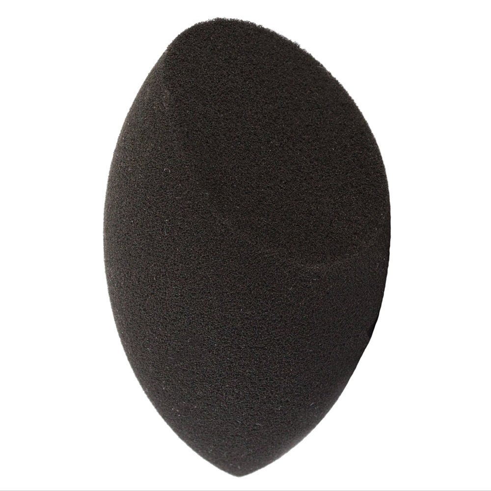 Contour Beauty Makeup Sponge Blender - 1 pc Black Complexion Make Up Sponges for Blending, Stippling, Highlighter, Concealer! Premium Latex Free Reusable Cosmetic Applicator