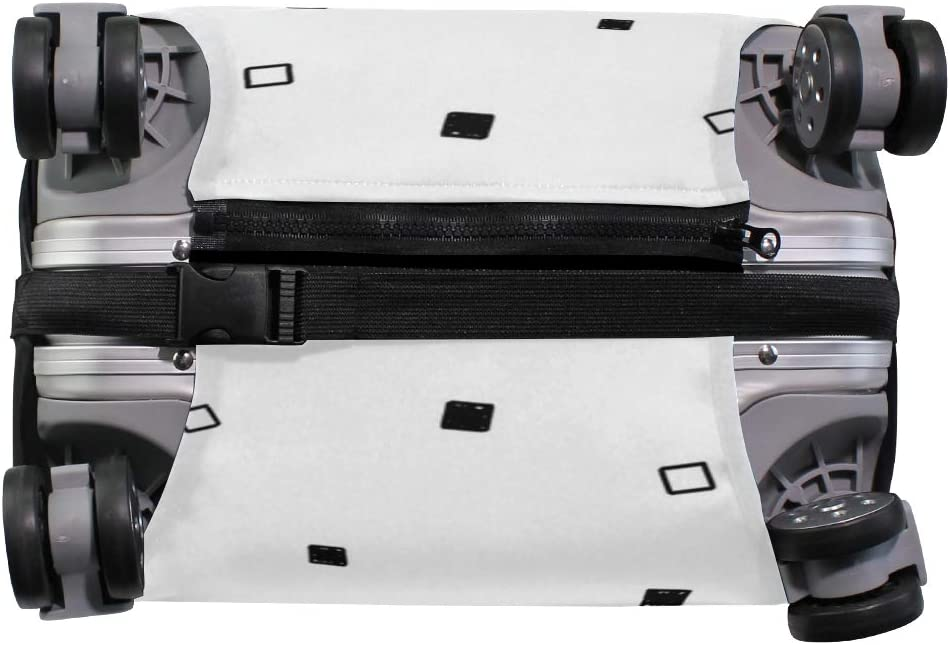 Black And White Square Traveler Lightweight Rotating Luggage Protector Case Can Carry With You Can Expand Travel Bag Trolley Rolling Luggage Protector Case