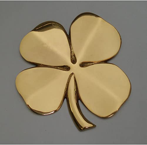 Brass Shamrock Wall Hanging Good Luck Blessing