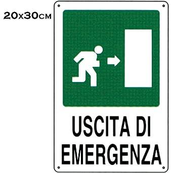 Cartel de señalización - Salida De Emergencia - 30 cm x 20 ...