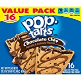 Kellogg's Chocolate Chip Pop-Tarts Toaster Pastries, 16 count