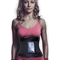Women's Waist Trainer - Belt-Waist Cincher Trimmer and Girdle Corset Body Shaper for Weight Loss and Postpartum Weight and Shave Off Stubborn Belly Fat (Black, Large)
