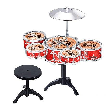 9b5950fcf44bc LIUFS-Tambor Batería Infantil Instrumentos Musicales Batería Percusión  Juguetes Para Bebés Modelos Rojos - Enviar