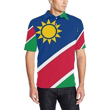 Lumos3DPrint Namibia Flag Men's Polo Shirt at Amazon Men's