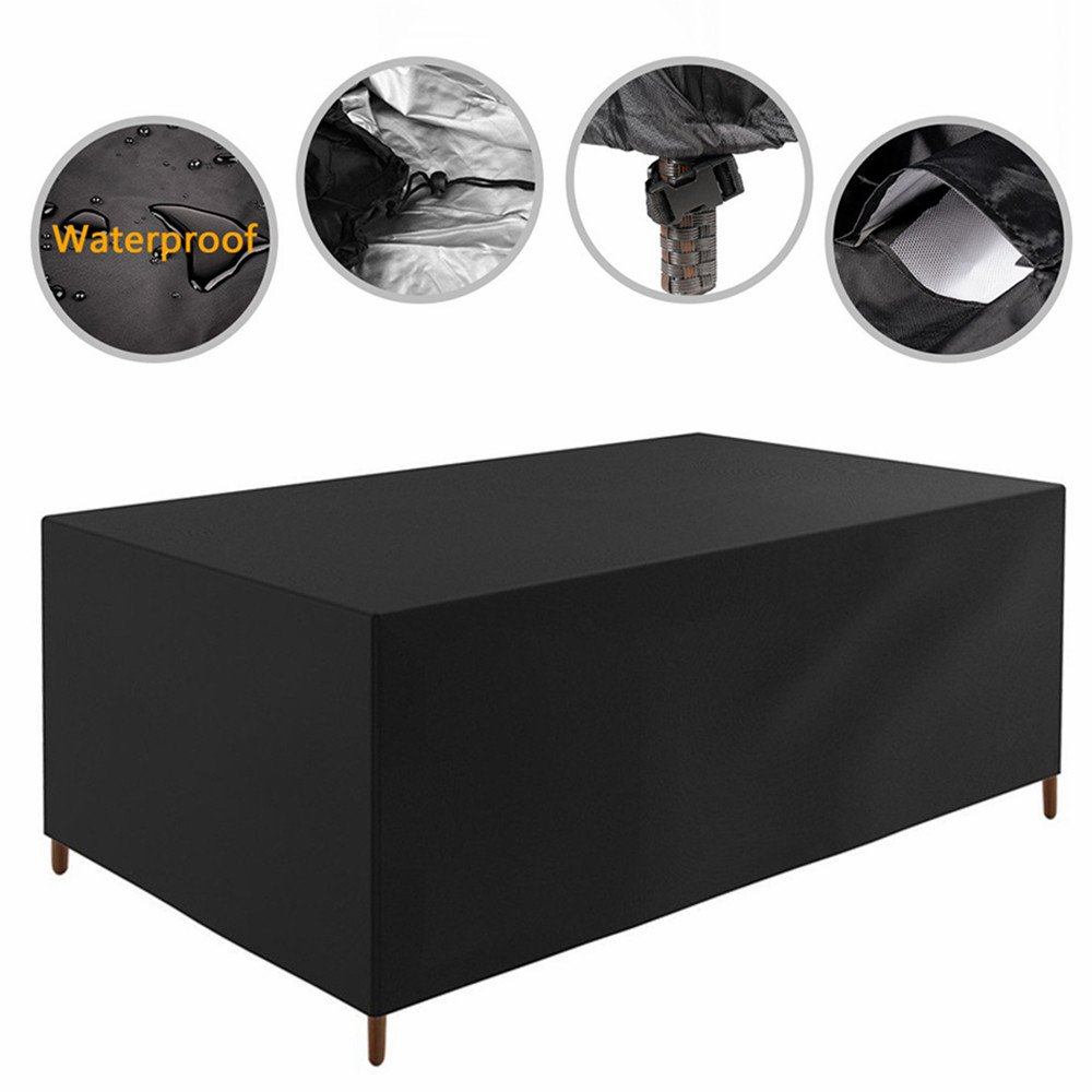 109x 80x 28 inch Patio Furniture Cover Water Resistant Durable Outdoor Table and Chair Cover Rectangle