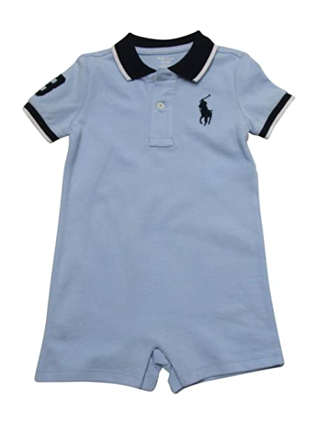 a35af8518 Amazon.com  RALPH LAUREN Baby Boys Mesh Polo Shortalls Onesie Outfit Big  Pony  Clothing
