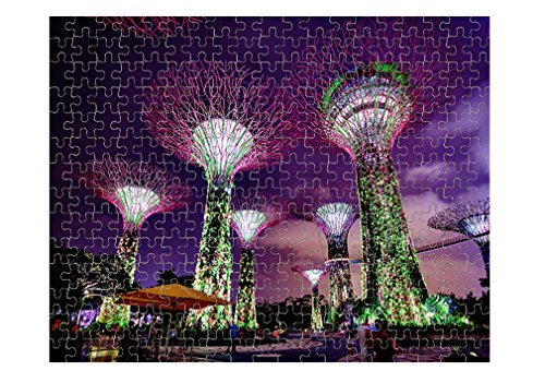 Colorful Towers Of Gardens By Singapore Jigsaw Puzzle Print 252 - Prints Singapore