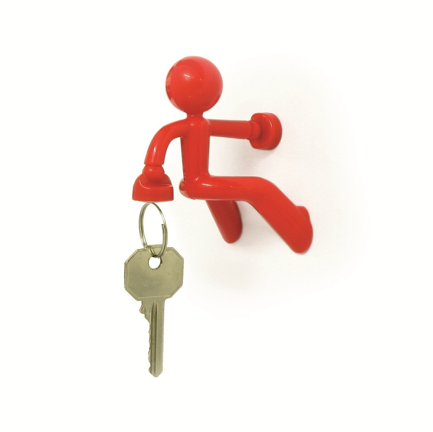 Asien Magnetic Key Holder Wall Climbing Strong Keyring Hooks Fashion Red 1pcs