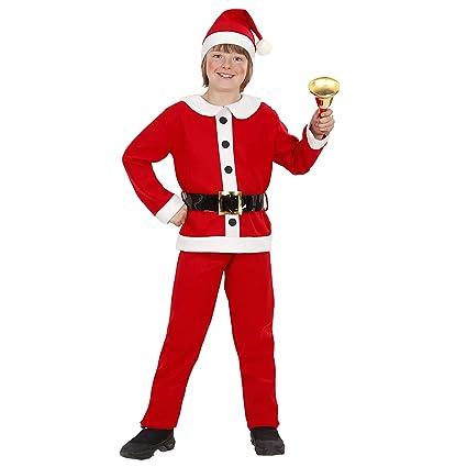 Babbo Natale 105.Widmann Santa Boy In Flanella Casacca Pantaloni Cintura Cappello Babbo Natale 105 Per Bambini Multicolore 140 Cm 14915