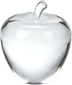 "Badash - Unique Crystal Apple Paperweight with Stem 3.5"" Tall"