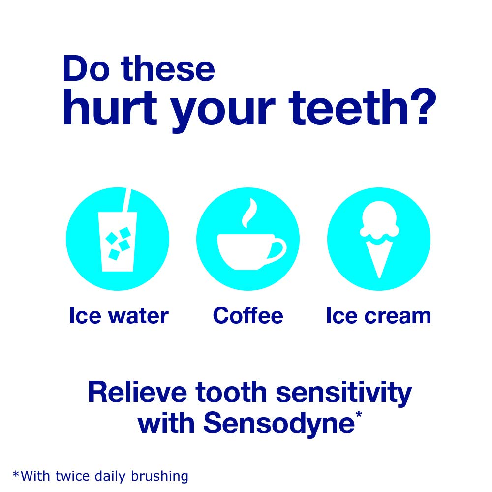 Sensodyne Fresh Mint Sensitive Toothpaste, Cavity Prevention and Sensitive Teeth Treatment - 4 Ounces (Pack of 2) : Beauty