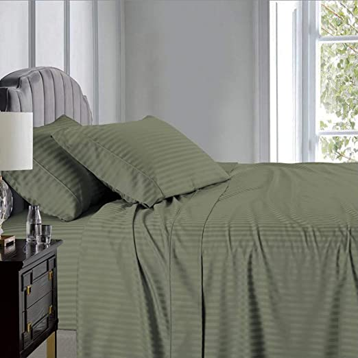 22 Inch Deep Pocket Bed Sheet Set 650 Thread Count Cotton Blend Wrinkle Free
