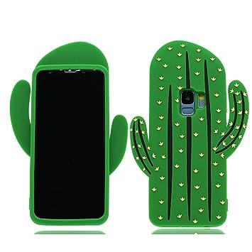 MZBaoLingMeiDongEU Carcasa Samsung Galaxy S9, (Cactus 3D ...