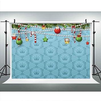 Amazon.com: Fondo para fotografía de fiesta de Navidad azul ...