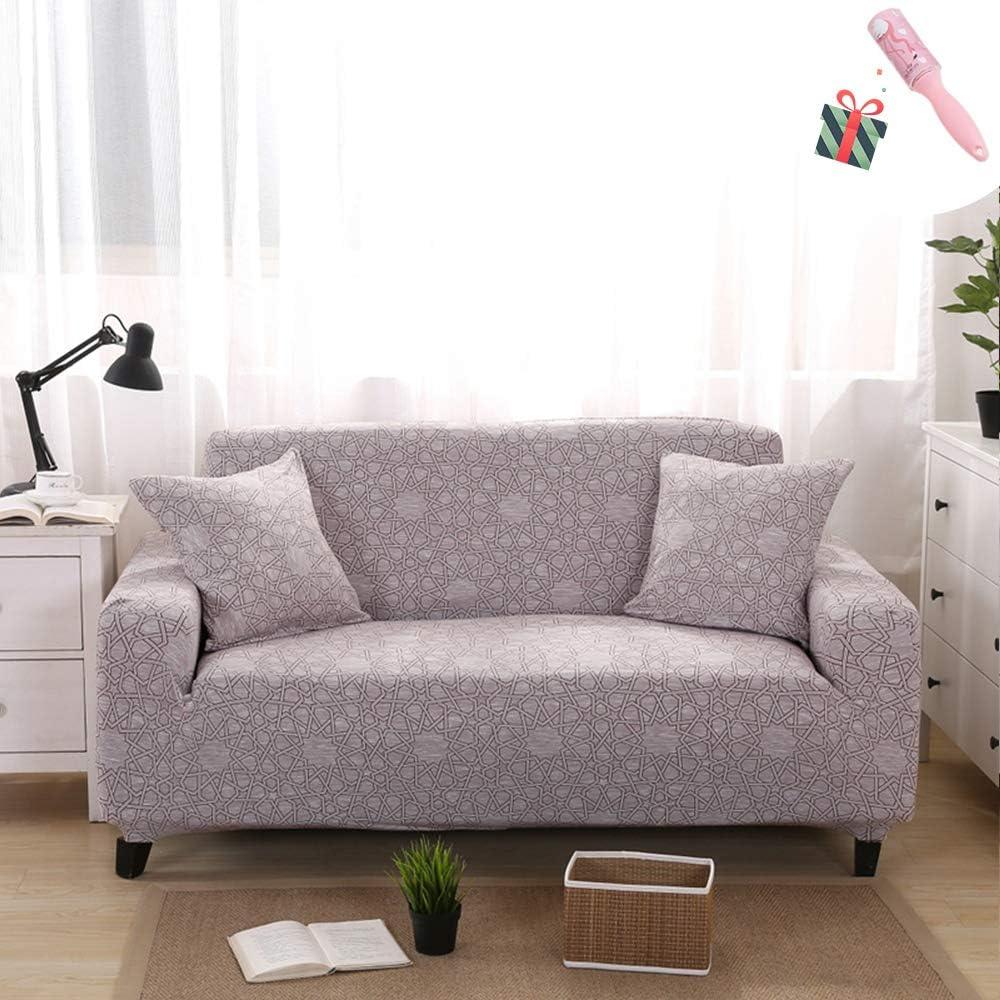 Morbuy Moderne Rev/êtement de Canap/é avec accoudoirs Sofa Elastique Couverture Protecteur Fauteuil Housses de Canap/é Imprim/é Extensible 1 Place,Entrelacement