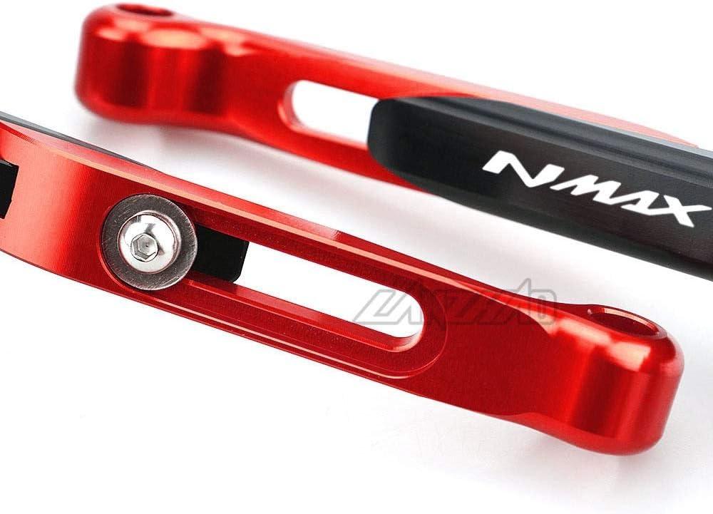 Color : Black RONGLINGXING Powersports Teile NMAX Hebel Motorrad Zubeh/ör Bremse Kupplung Einstellbare Ausziehbare 3-Finger-Hebel-Set for Yamaha NMAX125 NMAX155 2013-2019