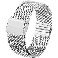 Funnyrunstore 12mm 14mm 16mm 20mm cinturino orologio cinturino in metallo magnetico cinturino in acciaio inossidabile cinturino a sgancio rapido cinturino per orologio DW (argento; 12mm)
