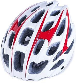Cobnhdu Nouveau casque d'équitation pour hommes et femmes Casque de vélo Casque de vélo Casque de vélo de route et de montagne Moulure intégrée Équipement de vélo pour hommes et femmes Équipeme