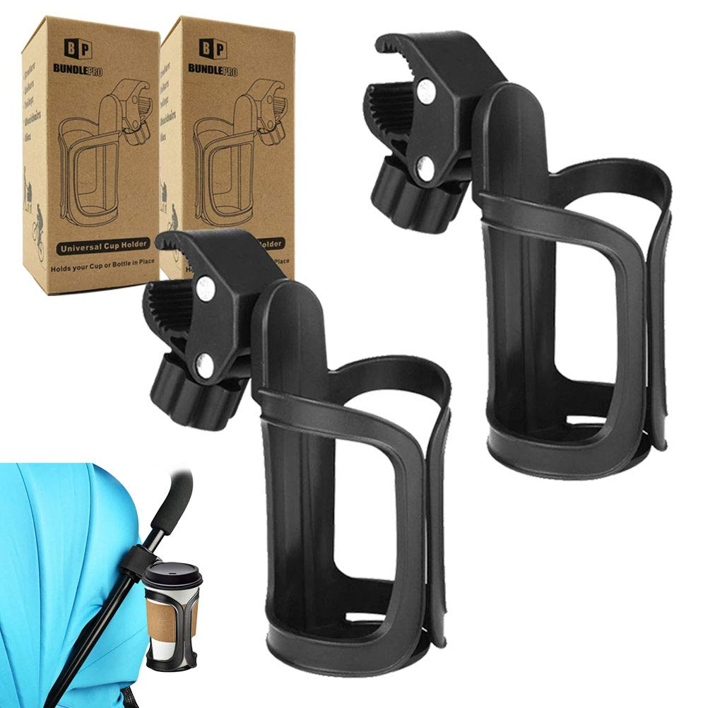 Pack of 2 Stroller Cup Holders | Universal Drinks Holder for Bikes, Trolleys or Walkers (2 Pack)