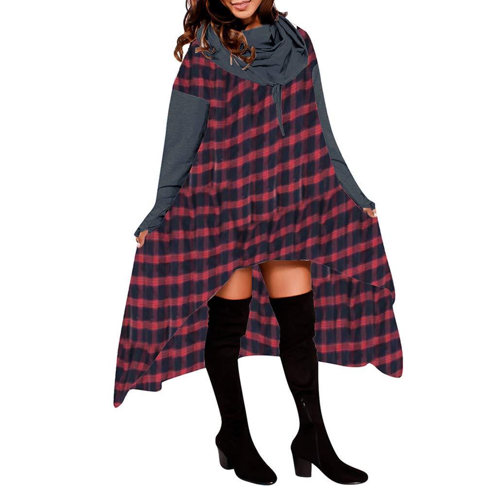 YANG-YI Clearance Women Loose Hoodie Hooded Tops Ladies Sweatshirt Sweater Asymmetric Blouse