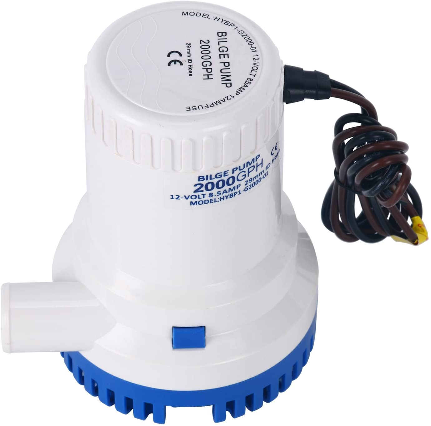 Small Pools and Fountains Camping PetierWeit 12V 2000GPH 1-1//8 Automatic Bilge Pump Submersible Pump Electric Pump for RV Boats