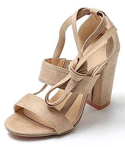 304e1f8f Minetom Sandalias Mujeres Verano Sandals Peep Toe Zapatos De Playa Moda  Casual Elegante Shoes Tacones Altos Tacón Ancho Fiesta: Amazon.es: Zapatos  y ...