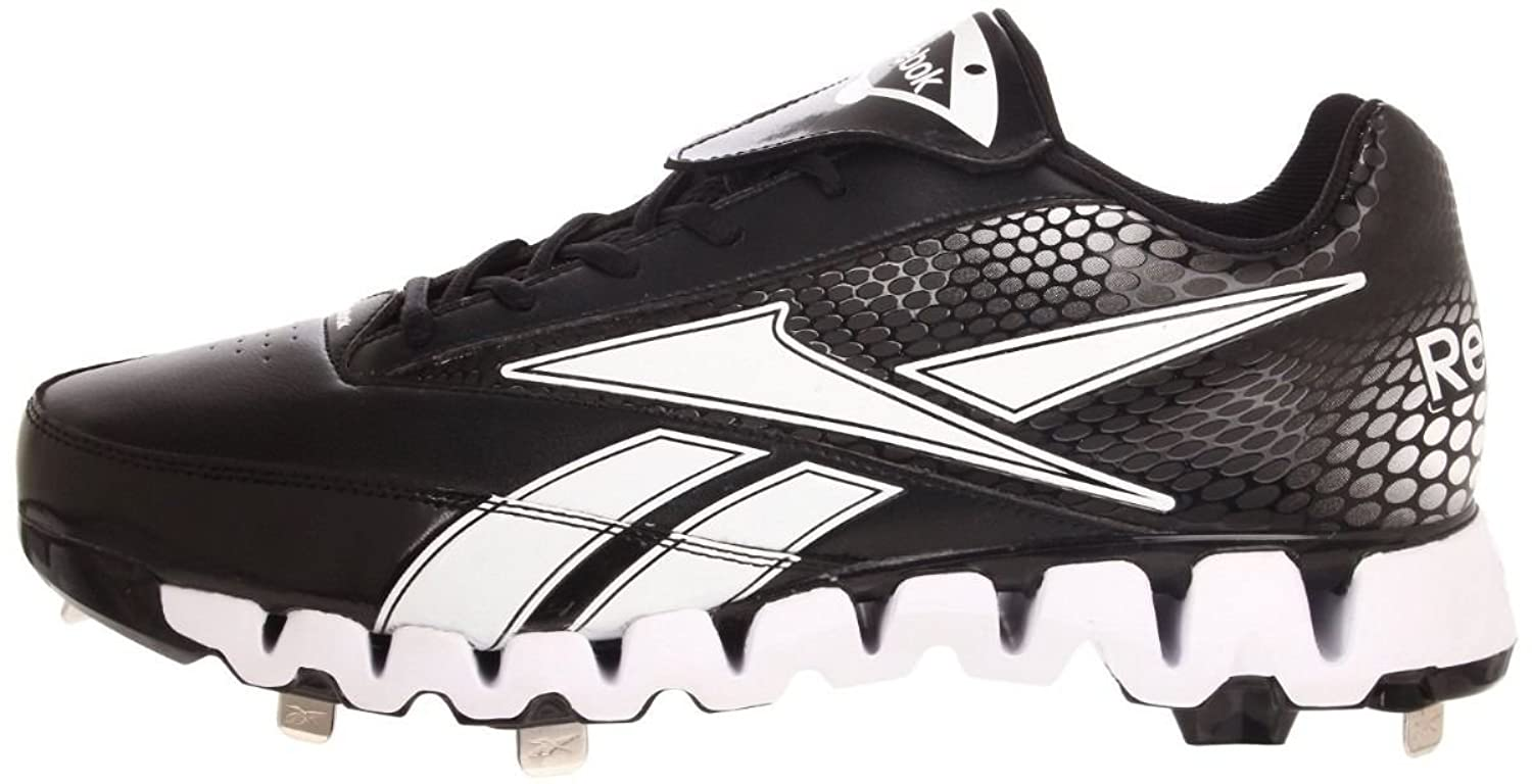 Zig Pro Cooperstown Low Metal Baseball Cleat Black White Men's 13