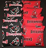 TAMPA BAY BUCCANEERS Cornhole Bean Bags 8 ACA Regulation Double Sided NEW