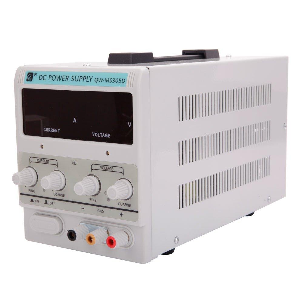 Crazyworld New 30V 5A Precision Variable Adjustable Digital DC Power Supply w/Clip Cable 110V
