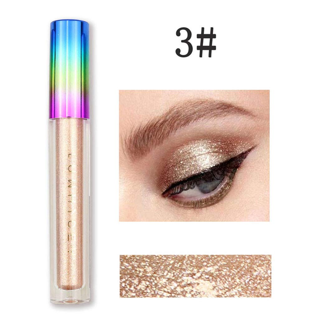 Yiduore 1PC Glitter Liquid Eyeshadow Shimmer Colorful Eyeliner -Lasting Waterproof Sparkling Eye Shadow for Women